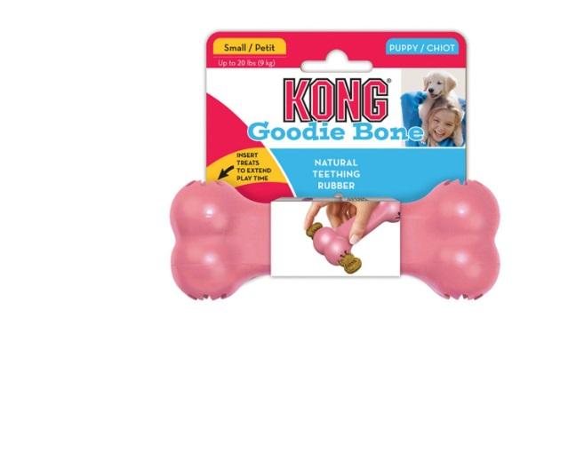 kong goodie bone puppy S rosado